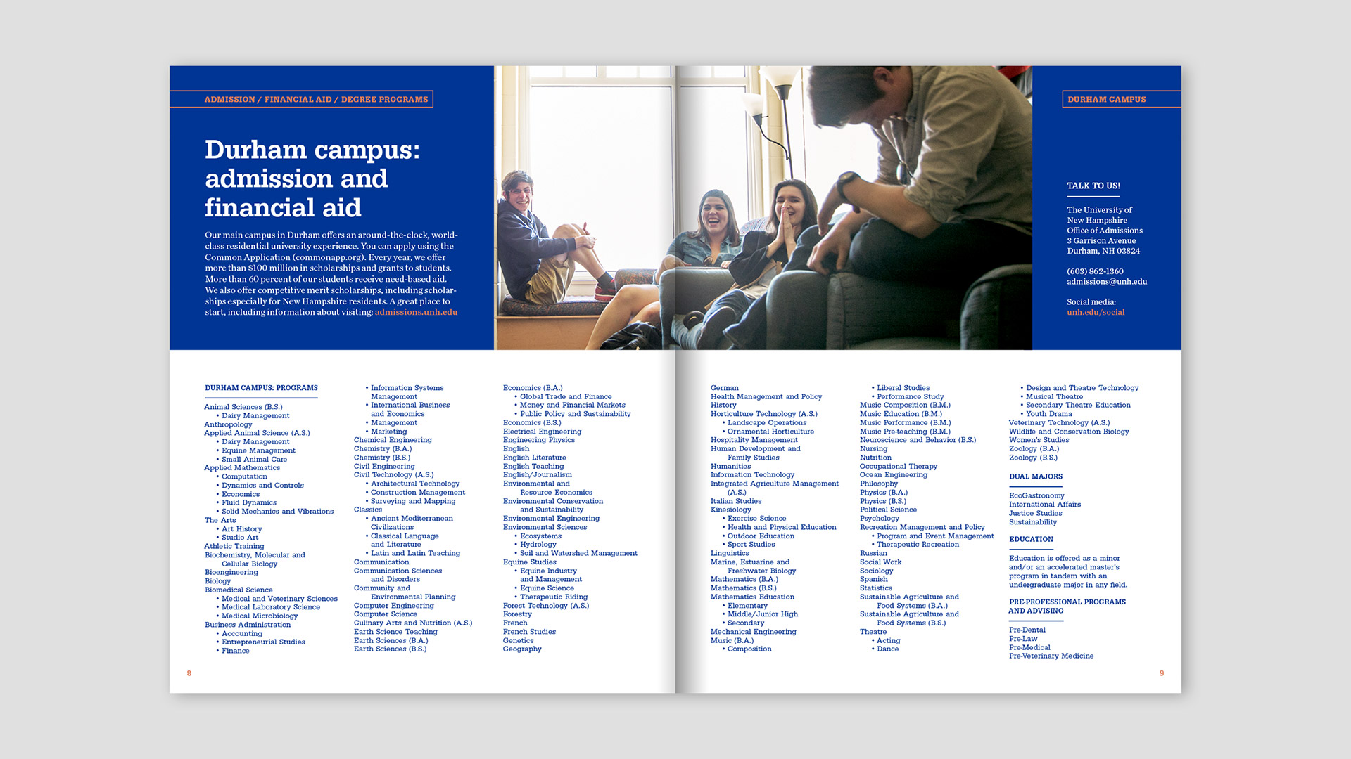 University Of New Hampshire Generation Circuit Works La Nutrition Plan Brochure In State Travel Piece